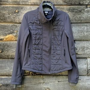 Bench Quilted Gray Funnel Neck Zipper Front Jacket